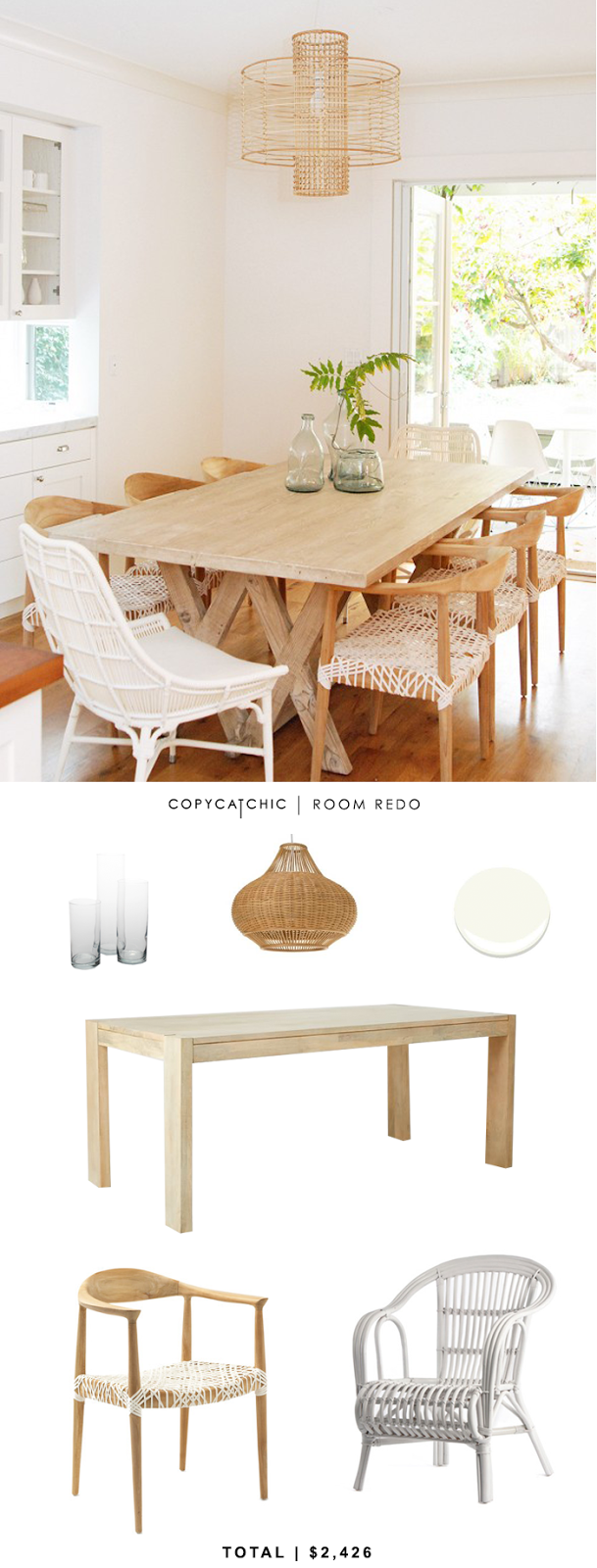 Copy Cat Chic Room Redo | Breezy Dining Room - copycatchic