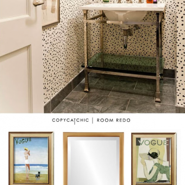 Copy Cat Chic Room Redo | Leopard Powder Bath