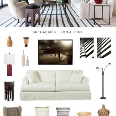 Copy Cat Chic Room Redo | Modern Beach Room Redo