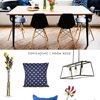 Copy Cat Chic Room Redo | Indigo Dining Room