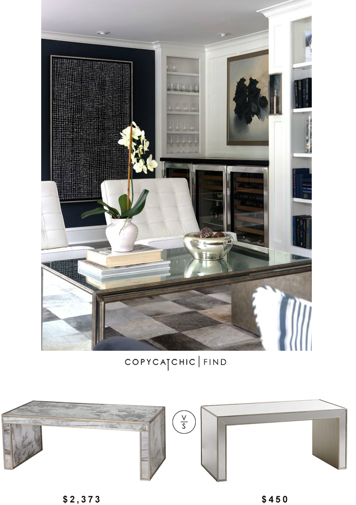 worlds away mirrored parsons coffee table - copycatchic