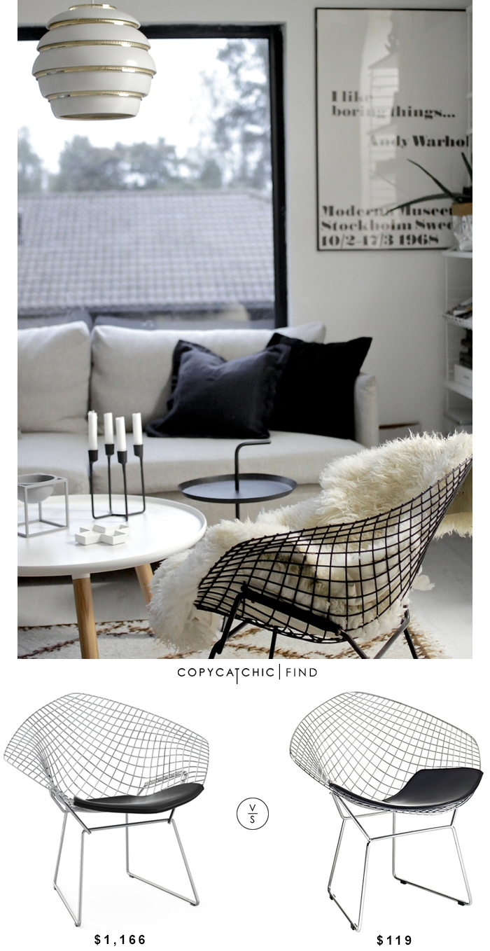 bertoia diamond chair copycatchic. Black Bedroom Furniture Sets. Home Design Ideas