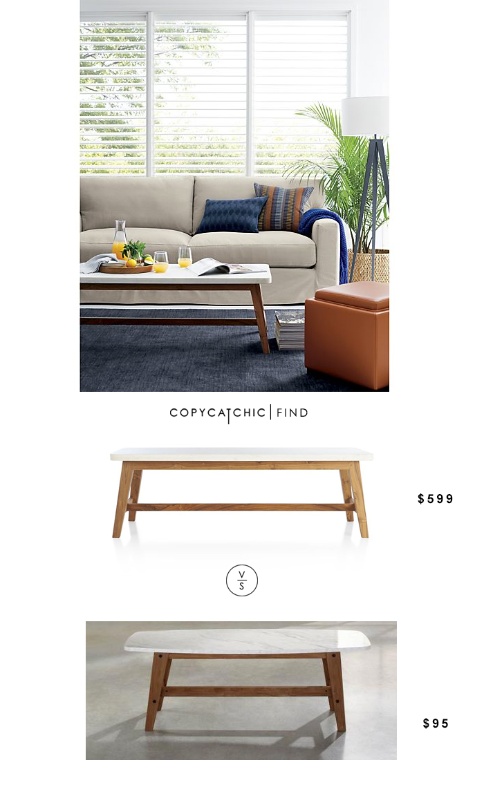 Crate and Barrel Cliff Coffee Table copycatchic
