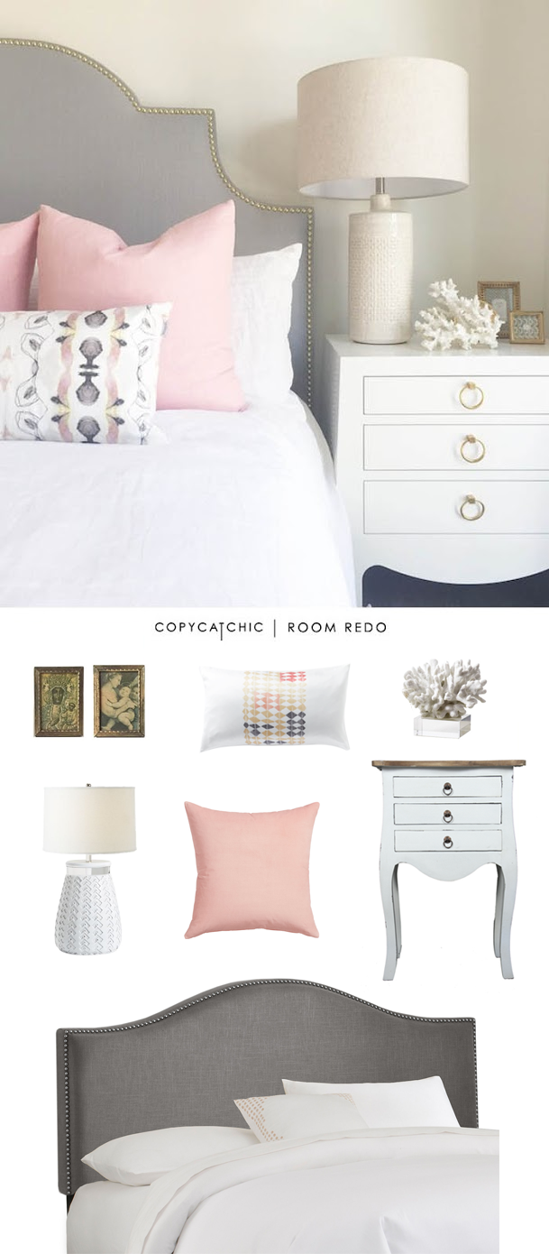 Copy Cat Chic Room Redo | Pink & Gray Bedroom - copycatchic