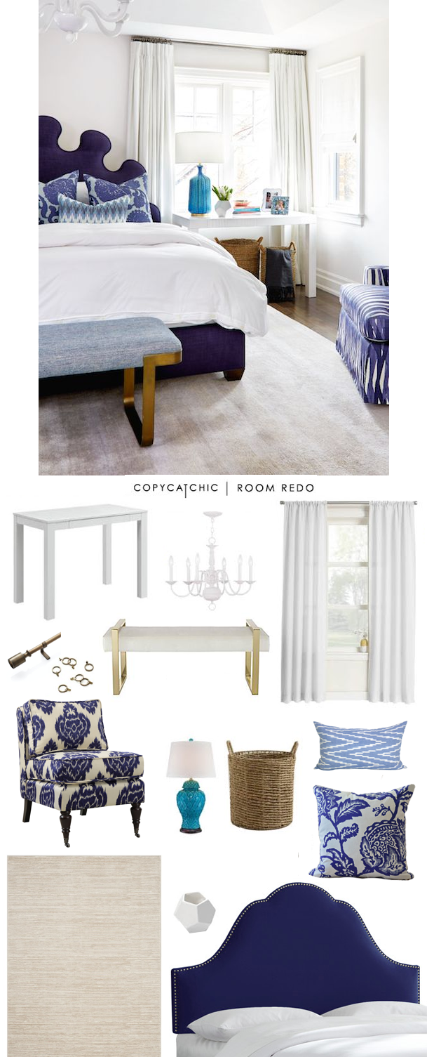 Copy Cat Chic Room Redo | Fresh Blue Bedroom