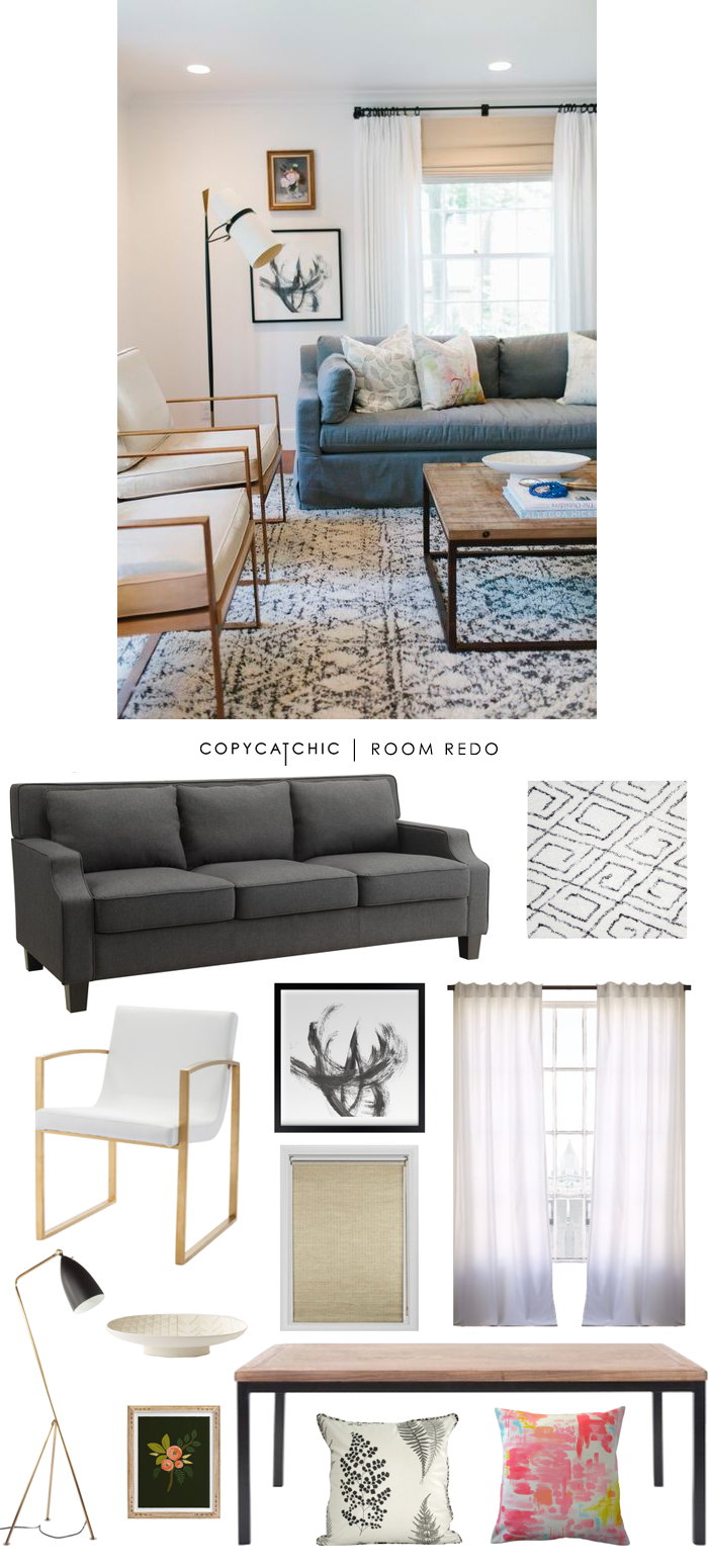 Copy Cat Chic Room Redo Soft Amp Eclectic Living Space