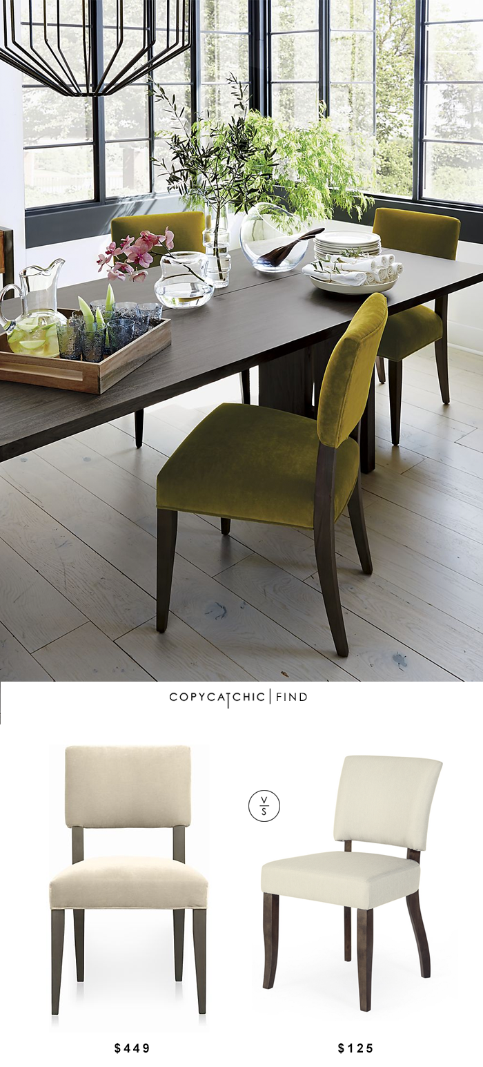 Crate and barrel cody dining chair copycatchic Crate and barrel living room chairs
