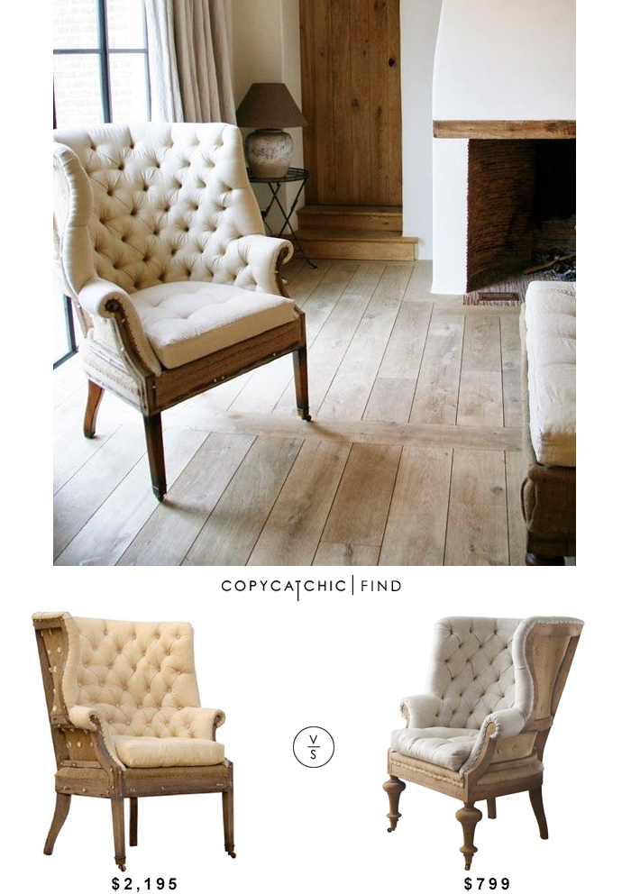 Restoration Hardware Deconstructed 19th Century English Wing Chair