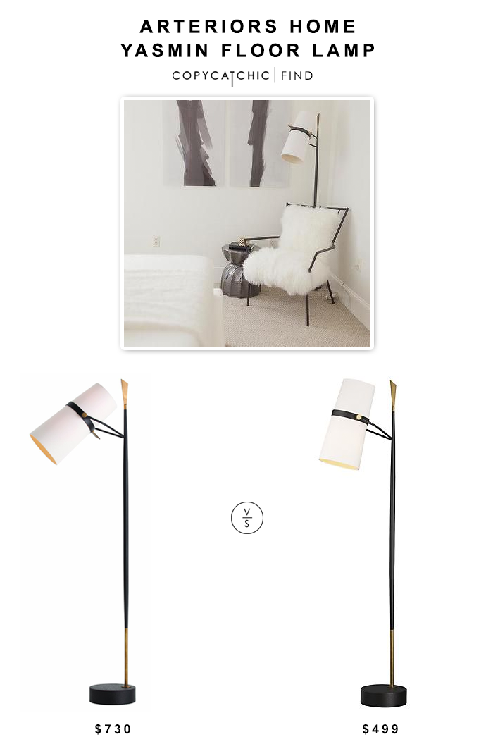 Arteriors Home Yasmin Floor Lamp $730 vs Crate & Barrel Riston Floor Lamp $499