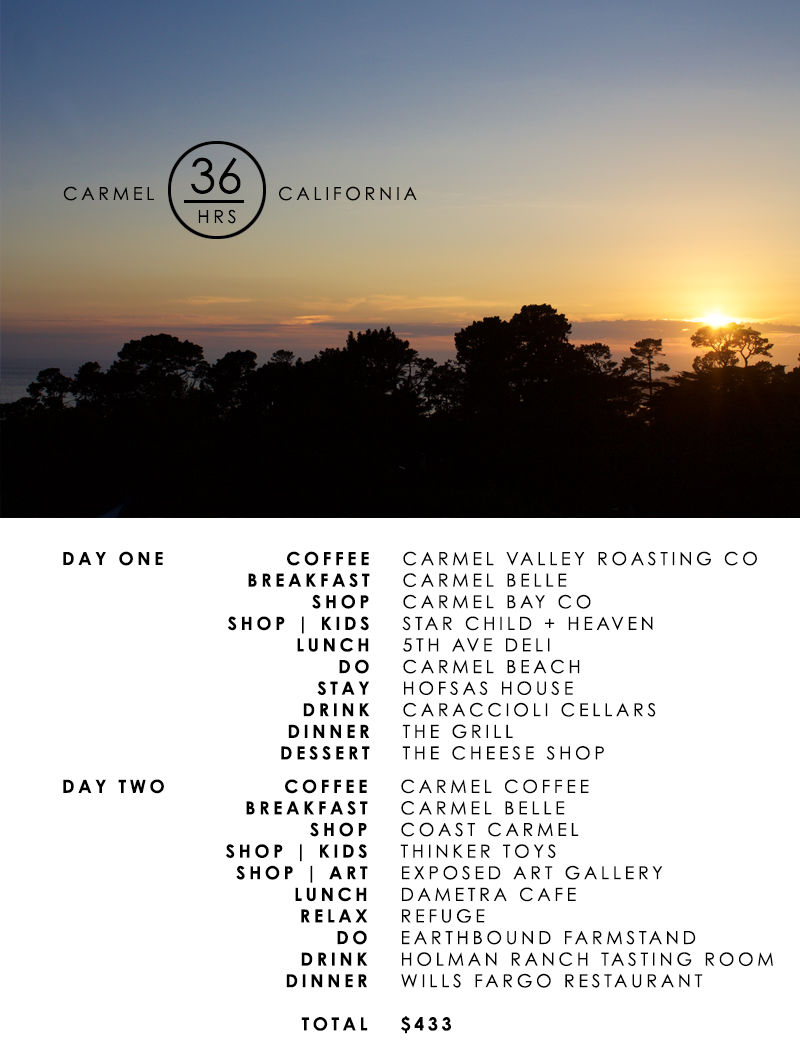 Travel to Carmel California for 36 hours in under $500 Copy Cat Chic