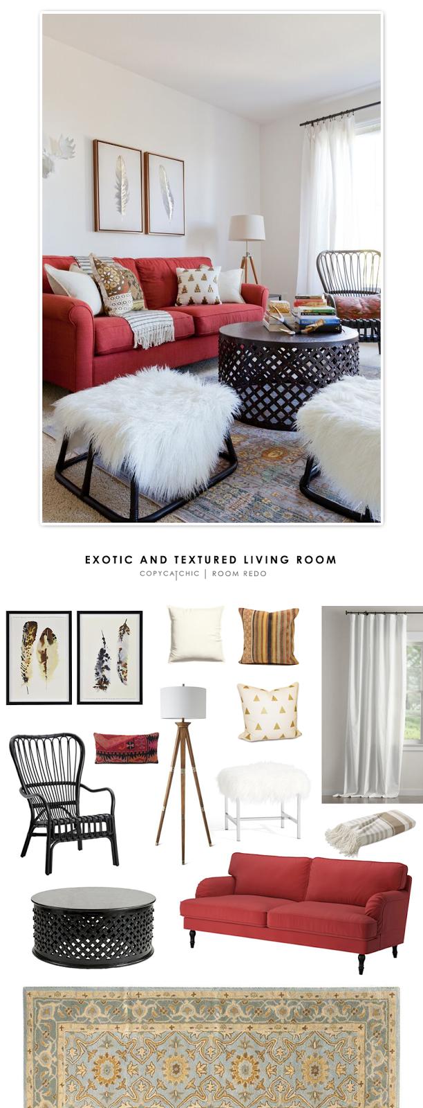 Copy Cat Chic Room Redo | Exotic & Textured Living Room - copycatchic