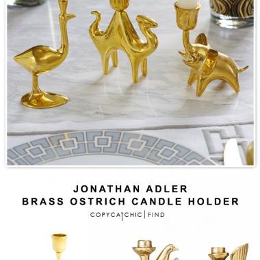 Jonathan Adler Brass Ostrich Candle Holder