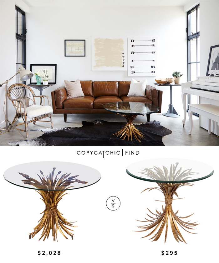 Coco Chanel Style Wheat Coffee Table