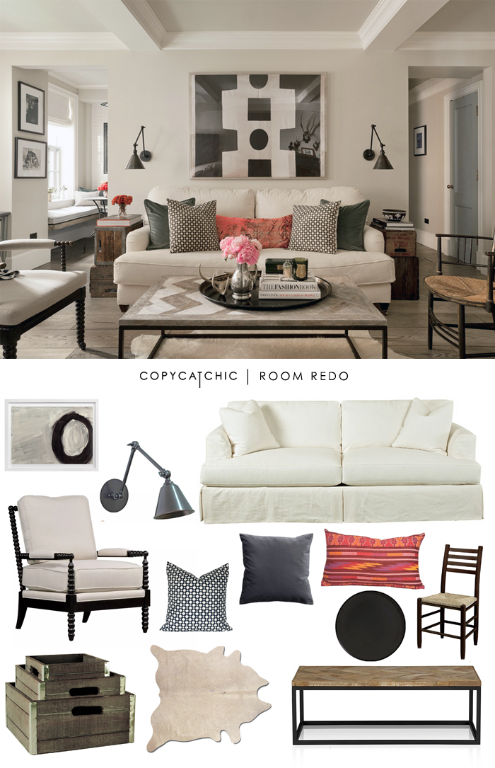 Copy Cat Chic Room Redo Eclectic Chic Living Room