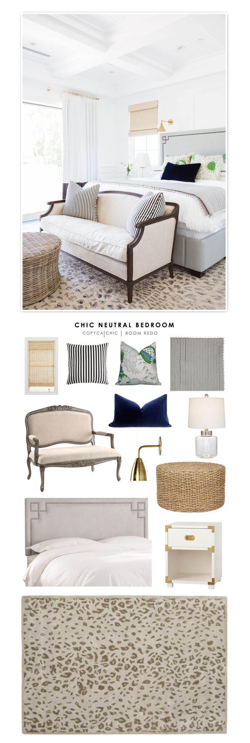 Copy Cat Chic Chic Neutral Bedroom Copycatchic