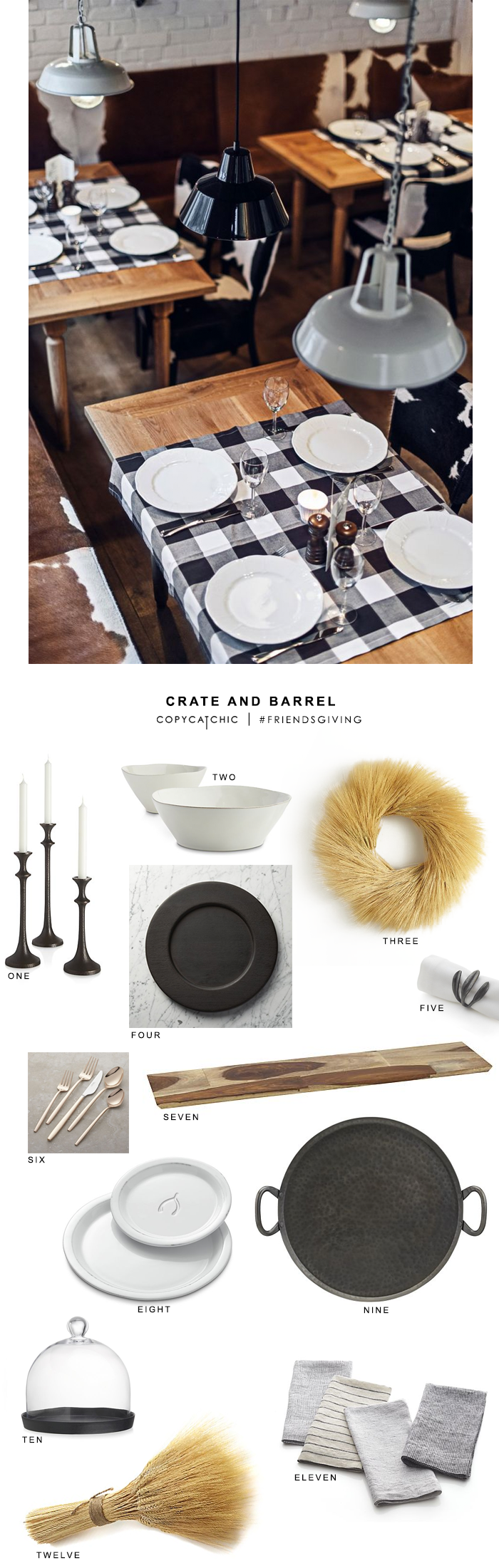 Copy Cat Chic Friendsgiving with Crate and Barrel