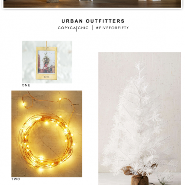 Five for Fifty| Holiday Inspiration with Urban Outfitters