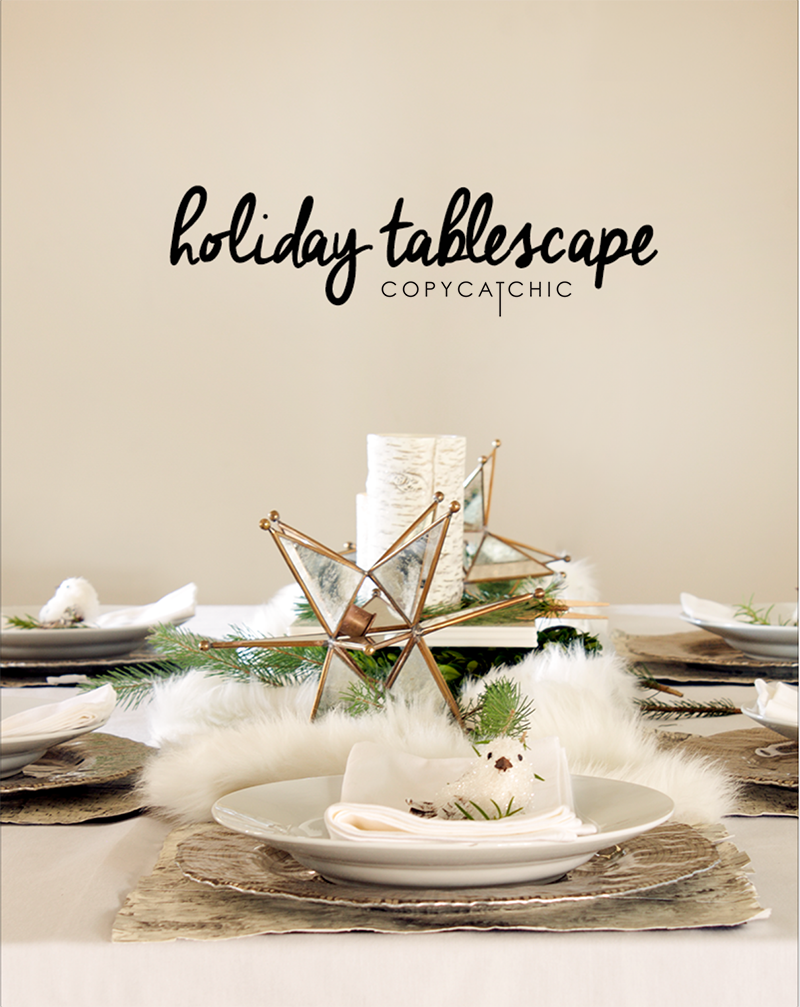 A Holiday Table With Copy Cat Chic And Pier 1 Imports