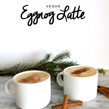Vegan Eggnog Latte and a Giveaway with Nespresso