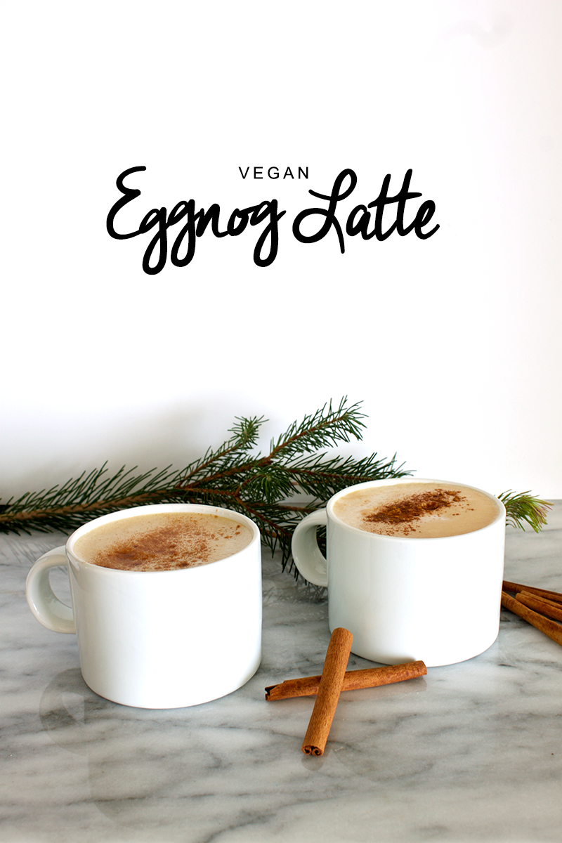 Vegan Starbucks Eggnog Latte copycat with Nespresso
