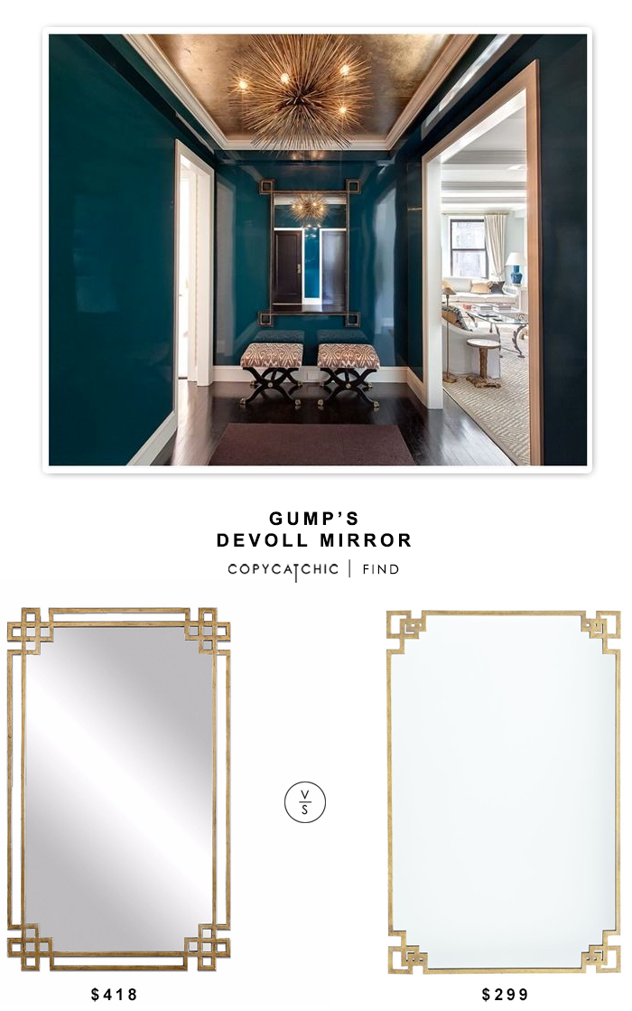 Gump's Devoll Mirror $418 vs Wisteria Deco Corners Mirror $299