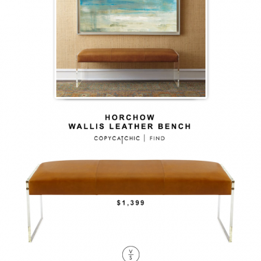 Horchow Wallis Leather Bench