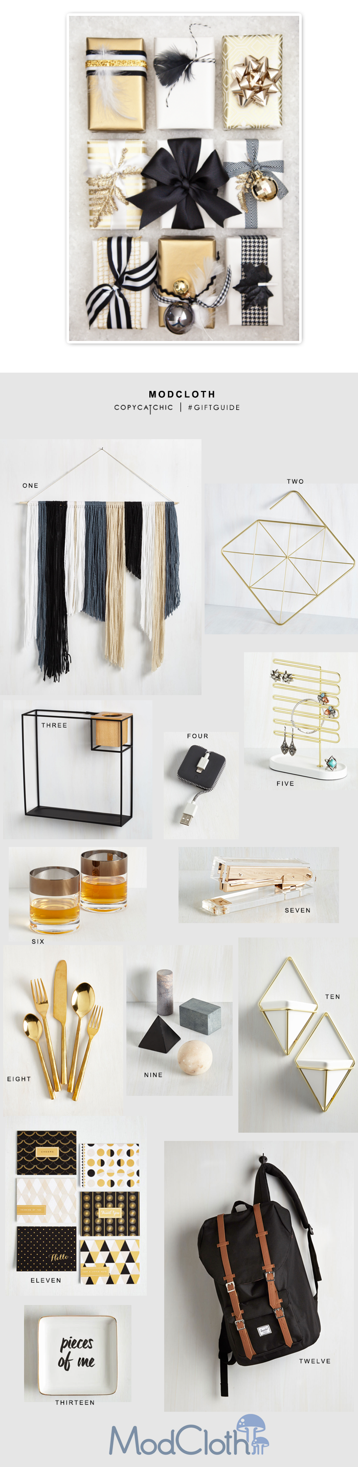 Copy Cat Chic | Gift Guide with ModCloth