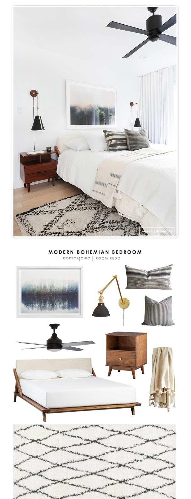 Copy Cat Chic Room Redo Modern Bohemian Bedroom Copycatchic
