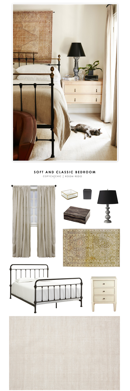 Katherine Power's soft and classic bedroom featured on My Domain and recreated for $1879