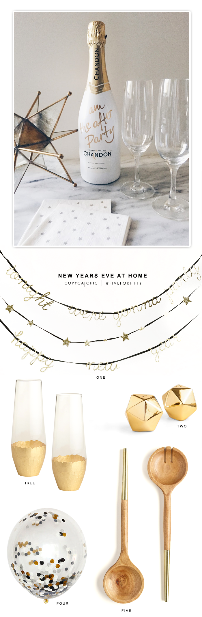 A cozy and fun New Year's Eve at home | Copy Cat Chic #FiveforFifty finds from World Market