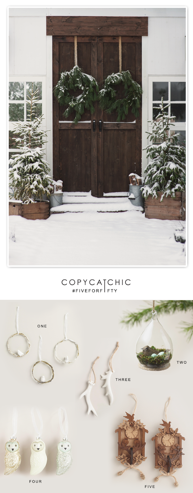 Copy Cat Chic #FiveforFifty Christmas Ornaments from World Market
