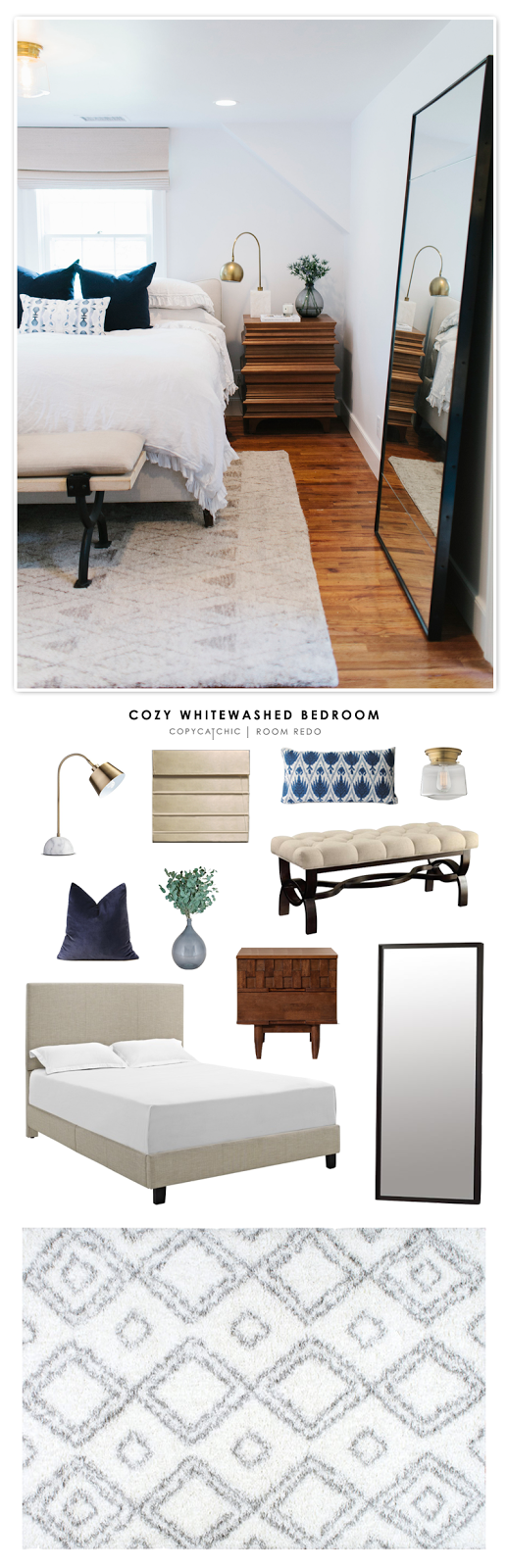 Copy Cat Chic Room Redo Cozy Whitewashed Bedroom