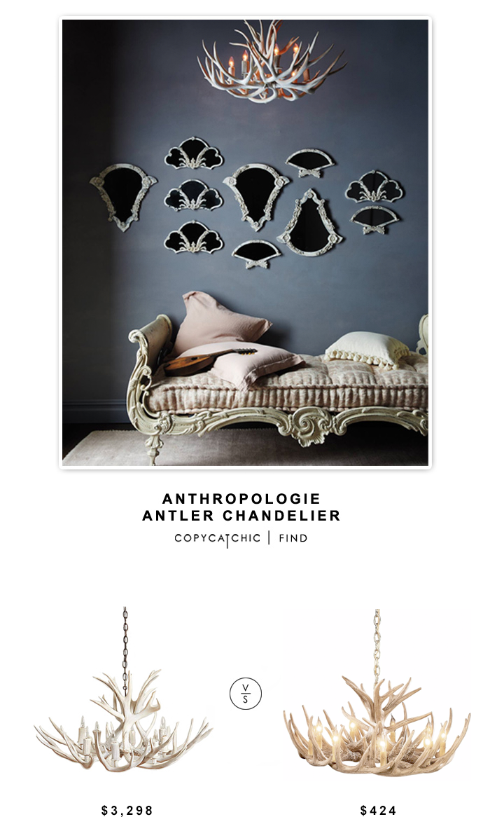 Amazing Anthropologie Shed Antler Chandelier vs Pottery Barn Faux Antler Chandelier vs Cabela us
