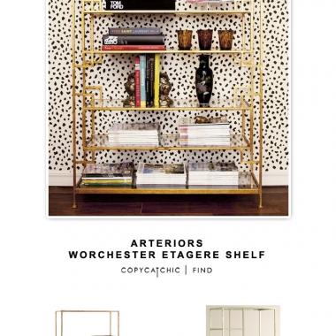 Arteriors Worchester Gold Etagere Shelf- Part II
