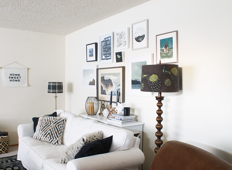 Copy Cat Chic Living Room and Gallery Wall