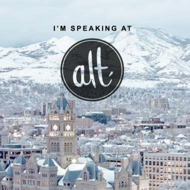 I'm Speaking at Alt Summit