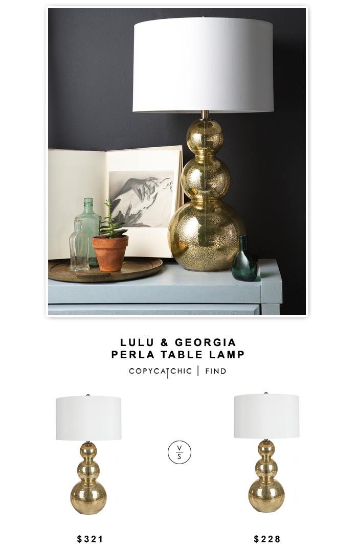 LuLu & Georgia Perla Gold Lamp $321 vs Overstock Glamorous Gold Lamp $228