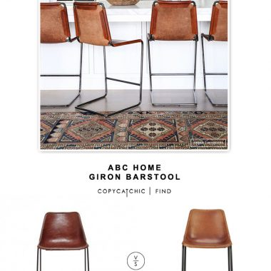 ABC Home Giron Leather Barstool