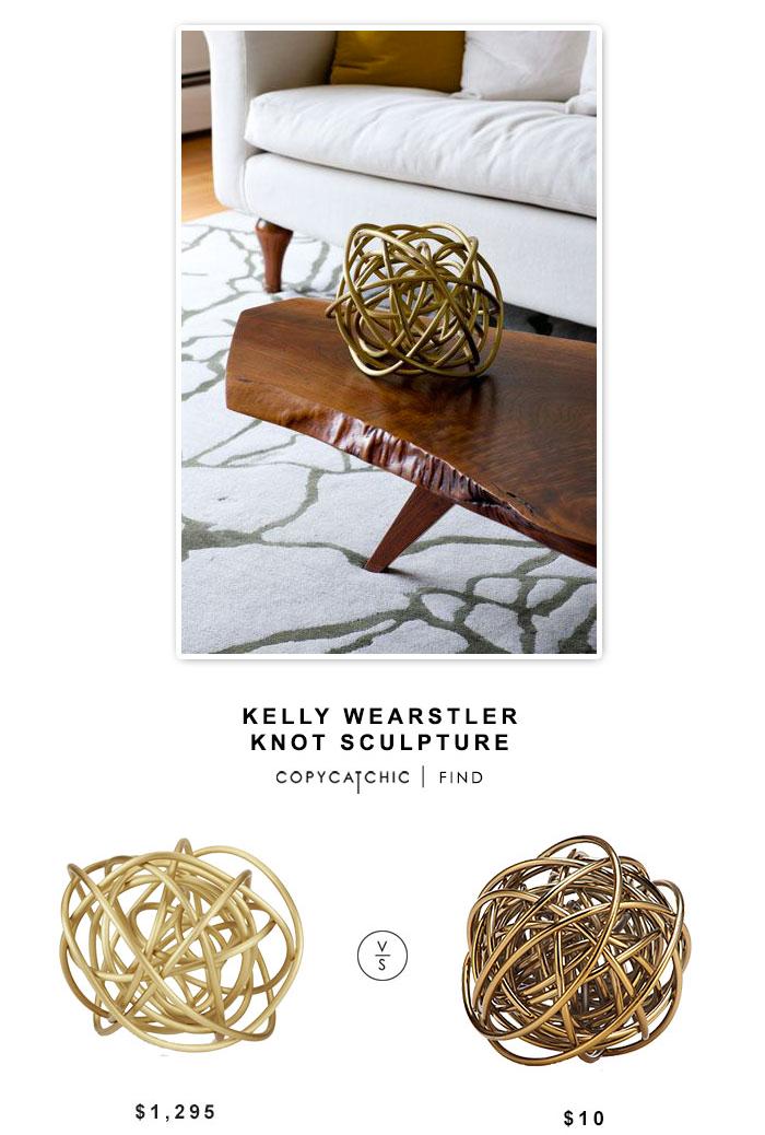 Kelly Wearstler Knot Sculpture $1295 vs Z Gallerie Orbit Sphere $10