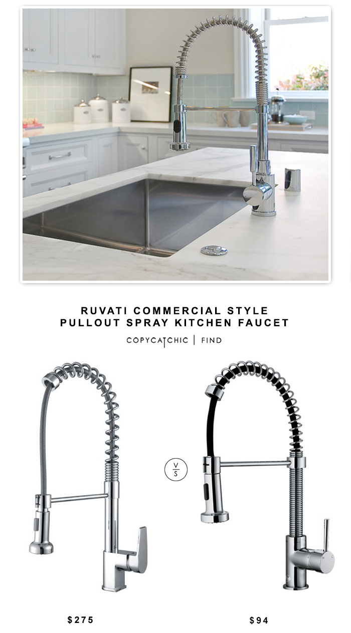 Ruvati Commercial Style Pullout Kitchen Faucet