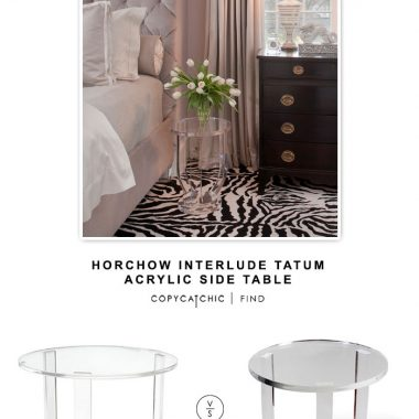 Horchow Interlude Tatum Acrylic Side Table