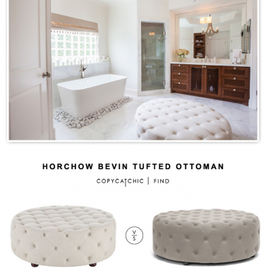 Horchow Bevin Tufted Ottoman