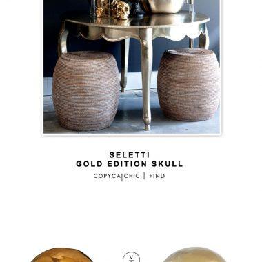 Seletti Gold Edition Skull