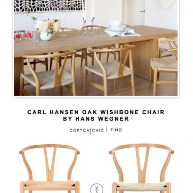 Carl Hansen Oak Wishbone Chair by Hans Wegner
