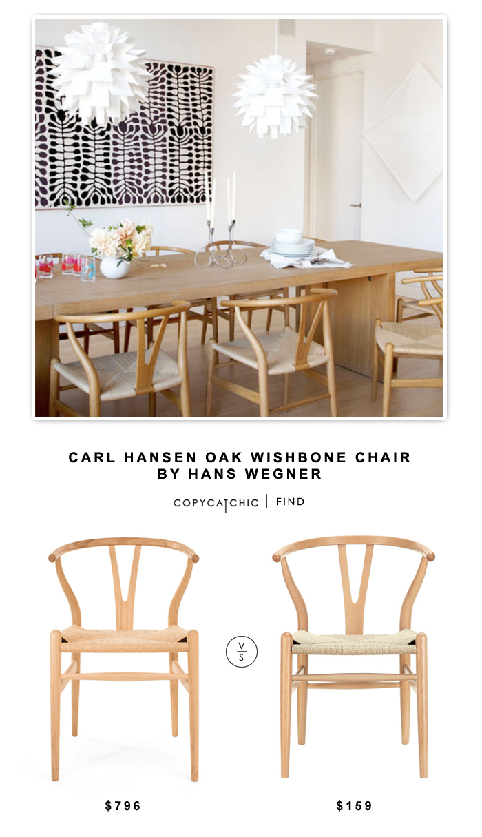carl hansen oak wishbone chair by hans wegner copycatchic