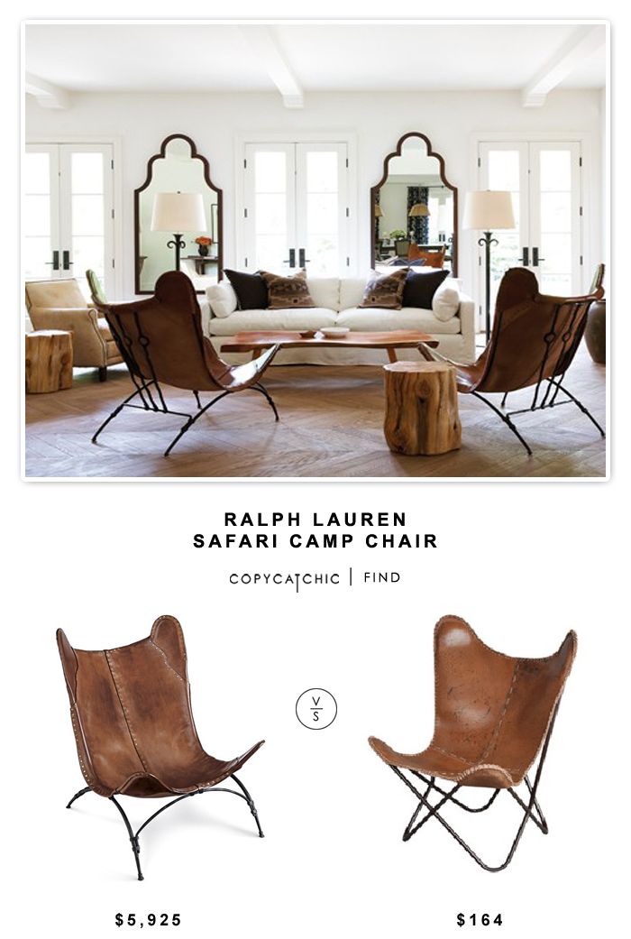 Ralph Lauren Safari Camp Chair $5925 Vs All Modern Fashion N You Butterfly  Lounge Chair $164