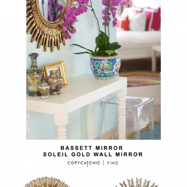 Bassett Mirror Soleil Gold Wall Mirror