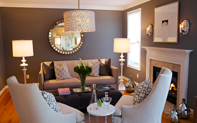 A glamorous gray living room gets recreated for less by Copy Cat Chic luxe living for less budget home decor and design look for less room redos