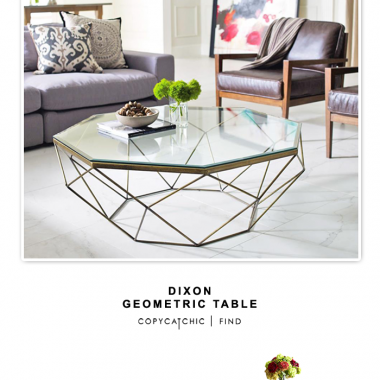 Dixon Geometric Modern Brass Octagonal Coffee Table