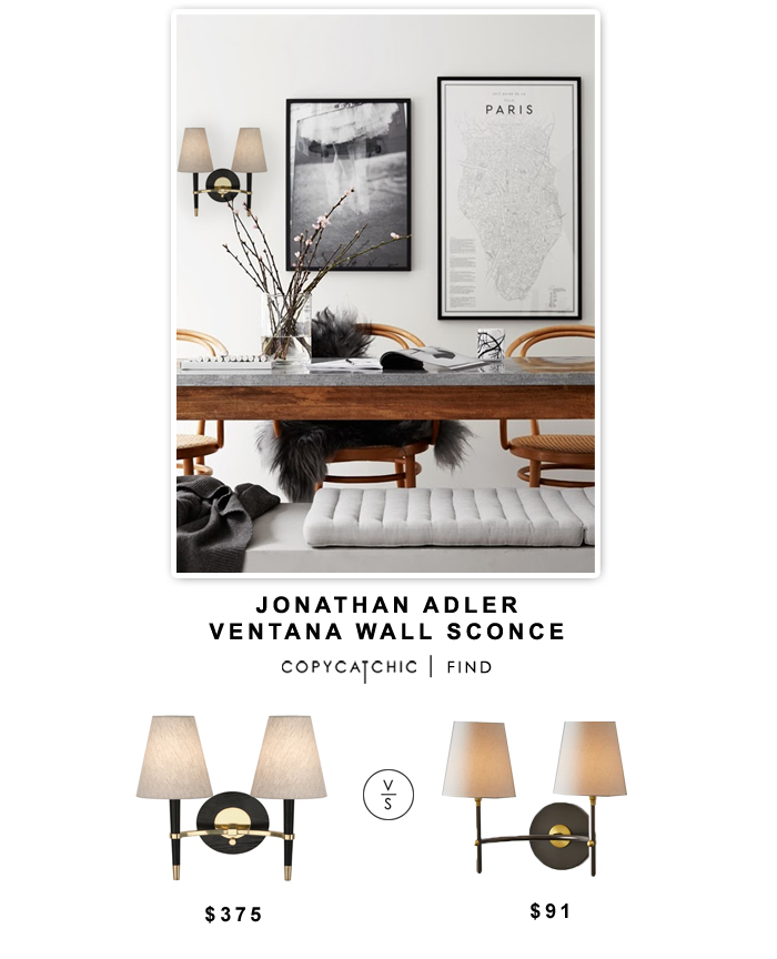 Jonathan Alder Ventana Wall Sconce vs West Elm Arc Mid-Century Sconce | Copy Cat Chic look for less